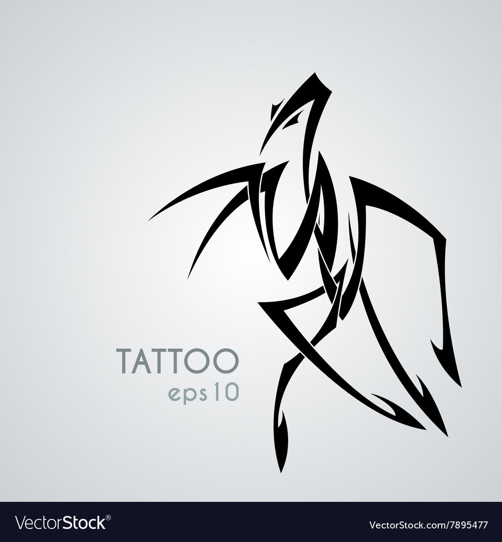 Image Of A Praying Mantis Style Tribal Royalty Free Vector