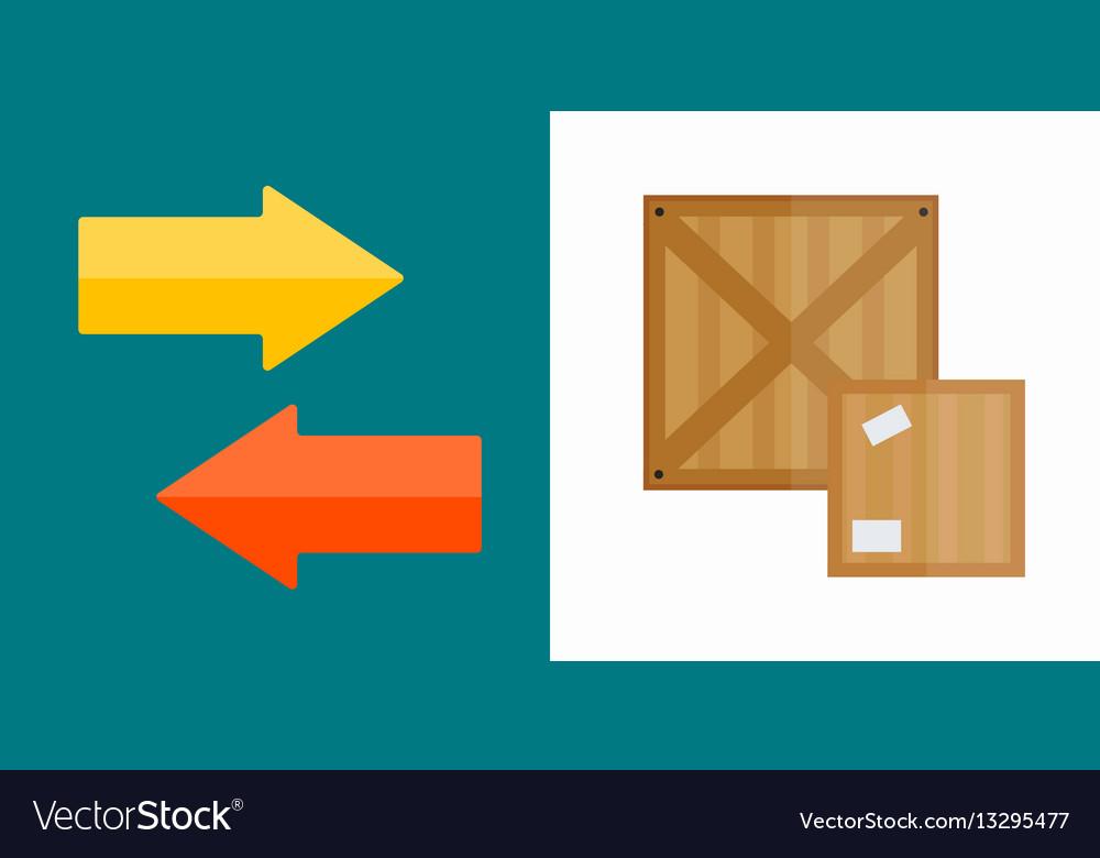 Shipping transportation moving box