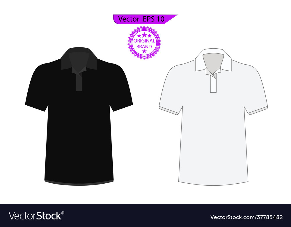 Blank black and white t-shirt set template
