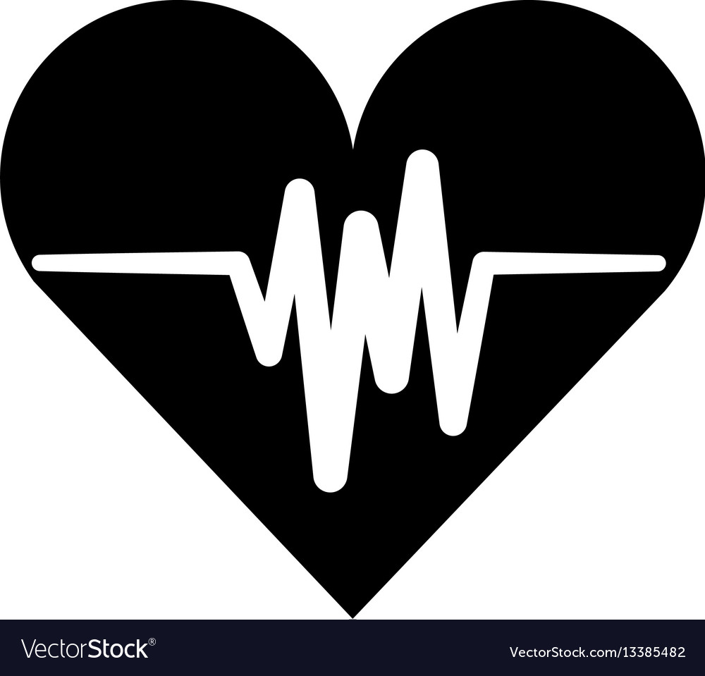 Cardiology pulse isolated icon