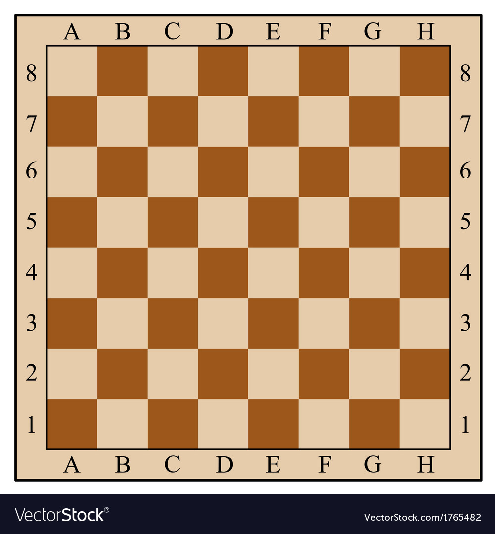 photo relating to Printable Chess Pieces referred to as Chess board without having chess elements vector impression