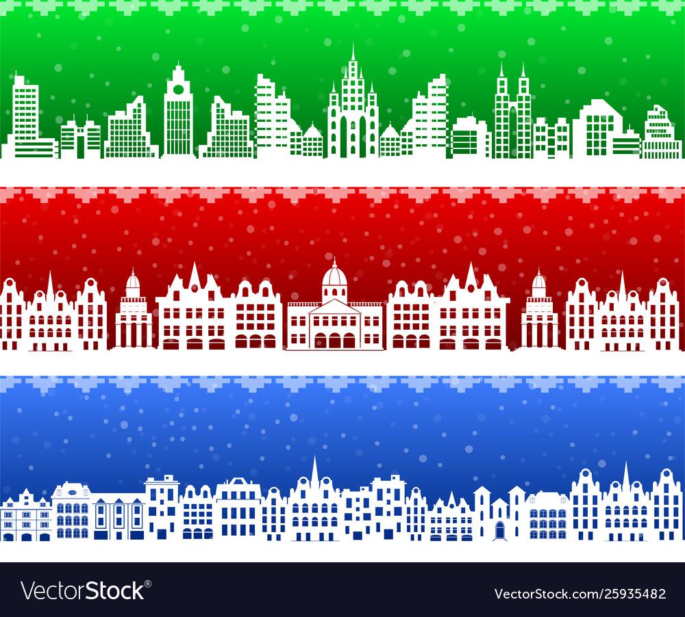 Christmas banner city
