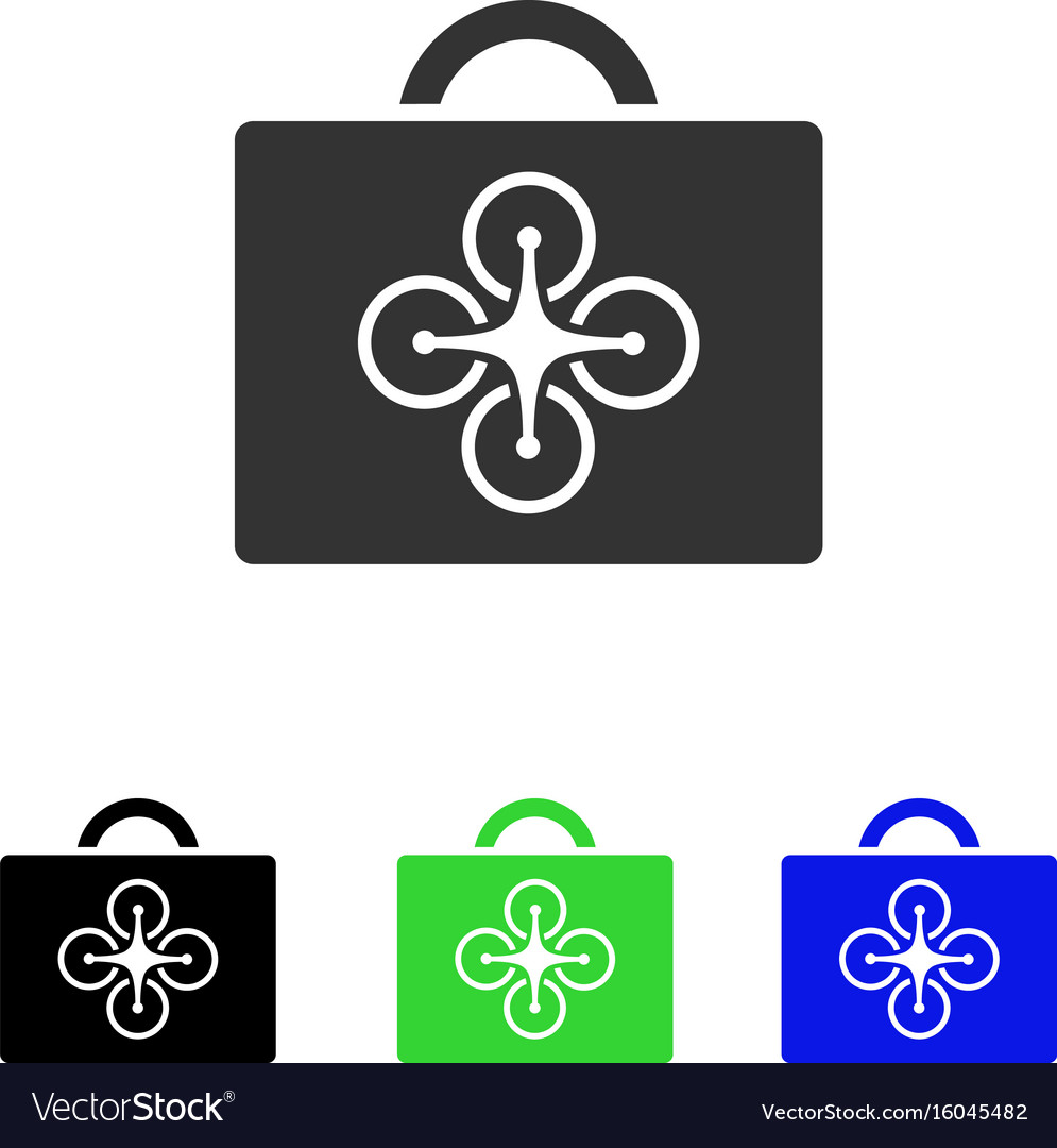 Drone toolcase flat icon vector image