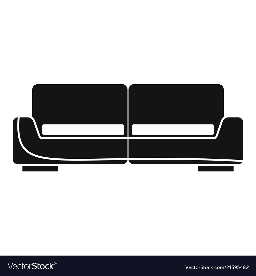 Modern sofa icon simple style Royalty Free Vector Image