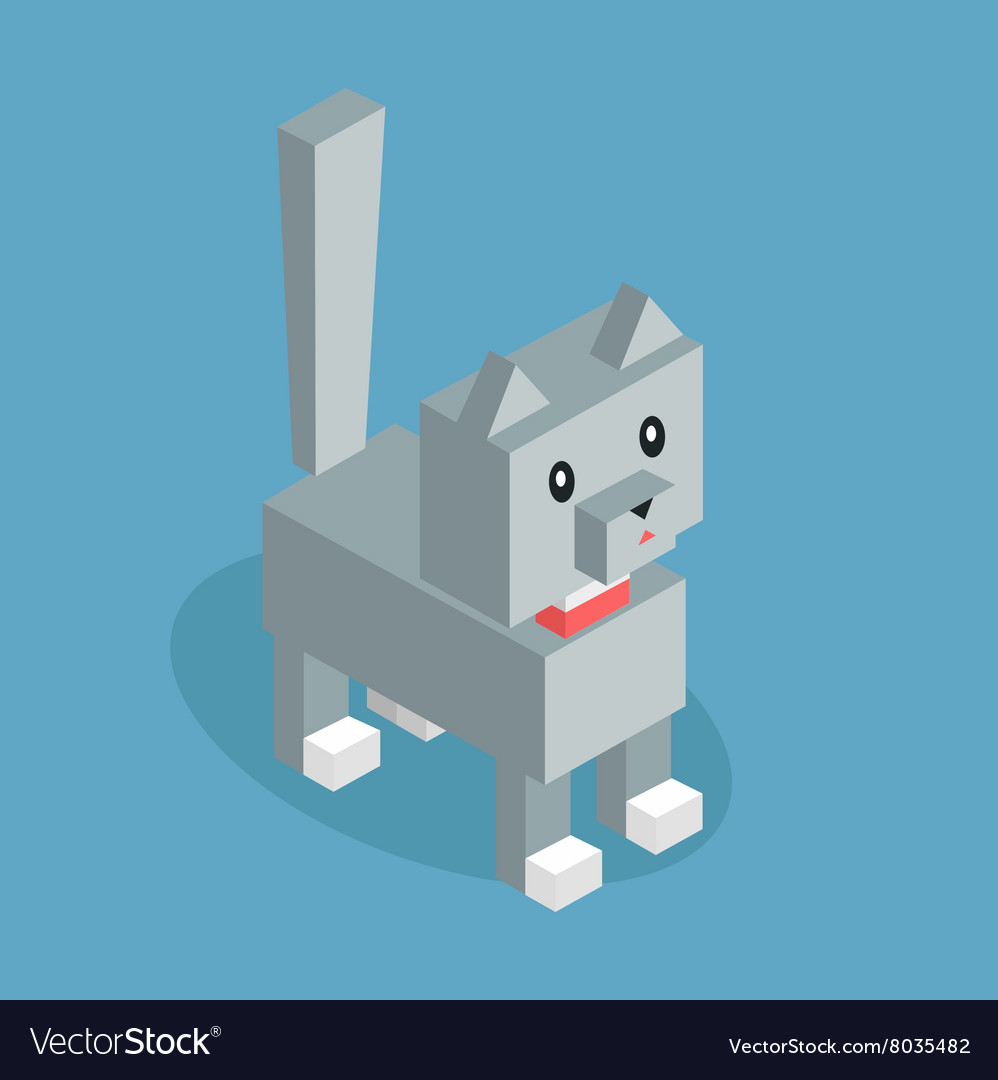 Pets Cat Icon Isometric 3d Design