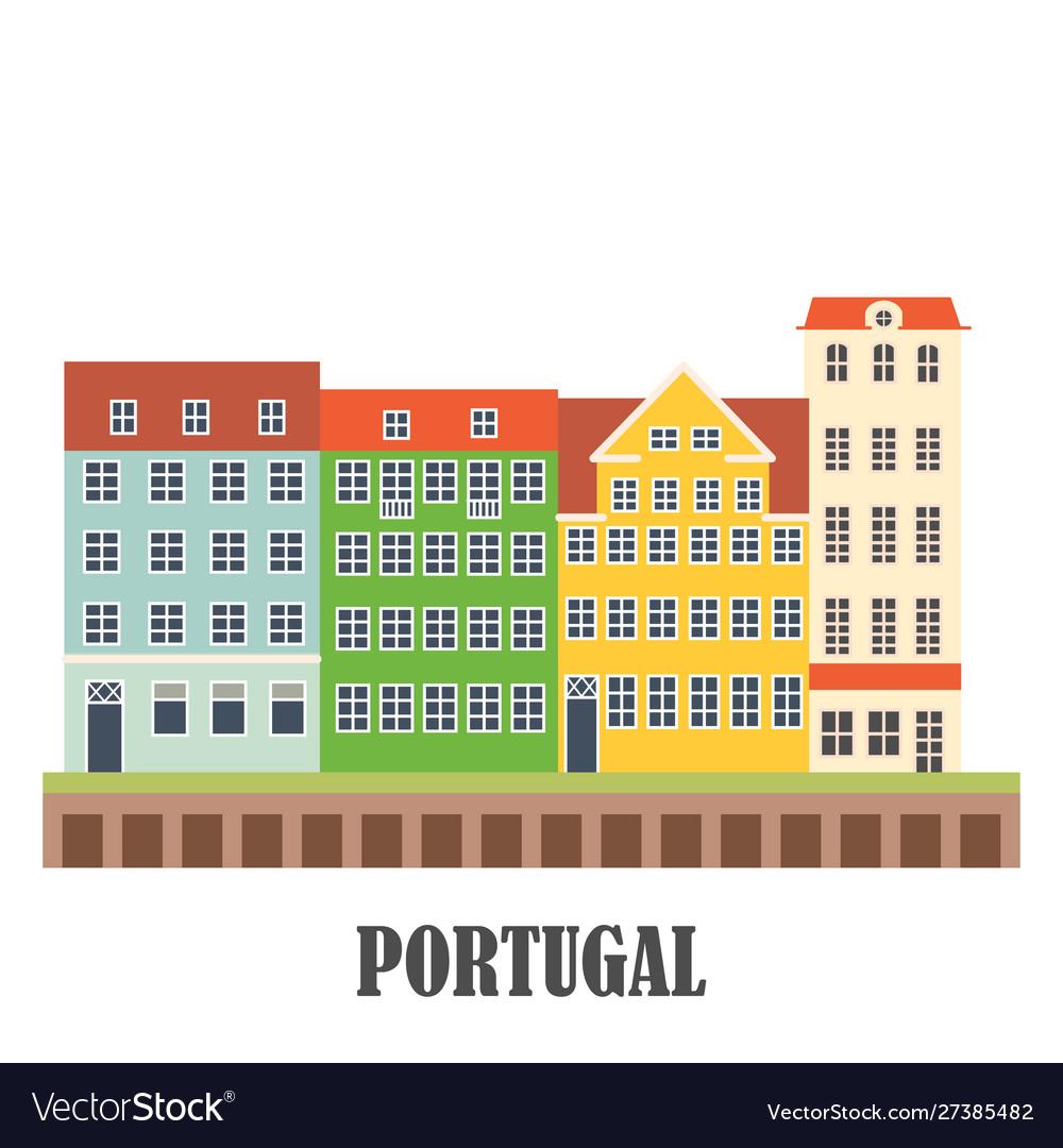 Portugal landmarks set old porto