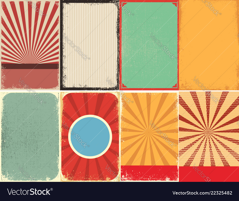 Set of retro style grunge backgrounds design