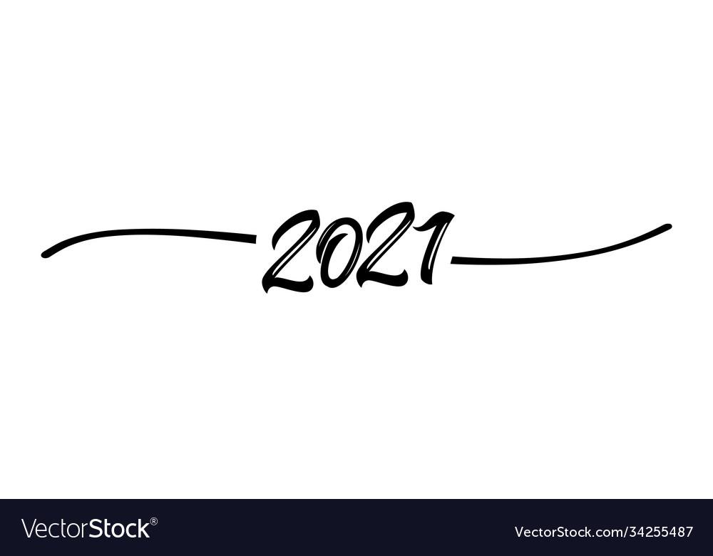 2021 hand drawn shape black