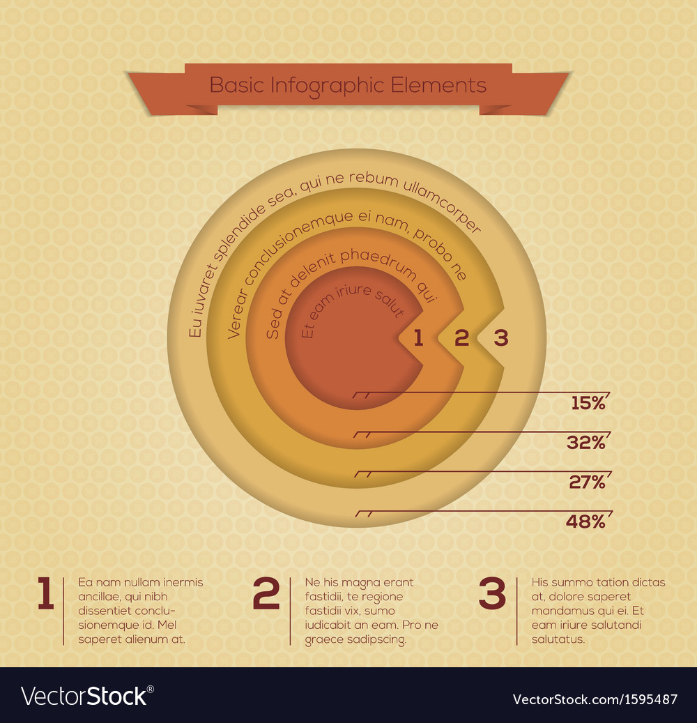 Modern business circle infographics banner