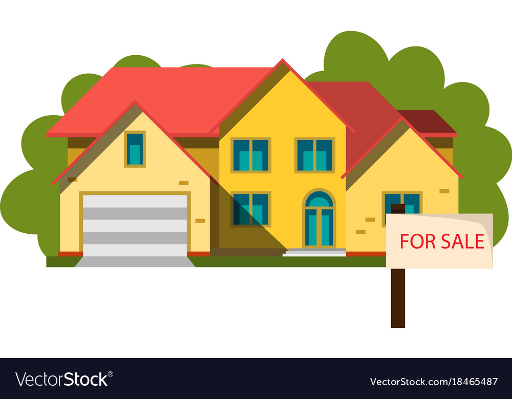 Sale house in flat design style