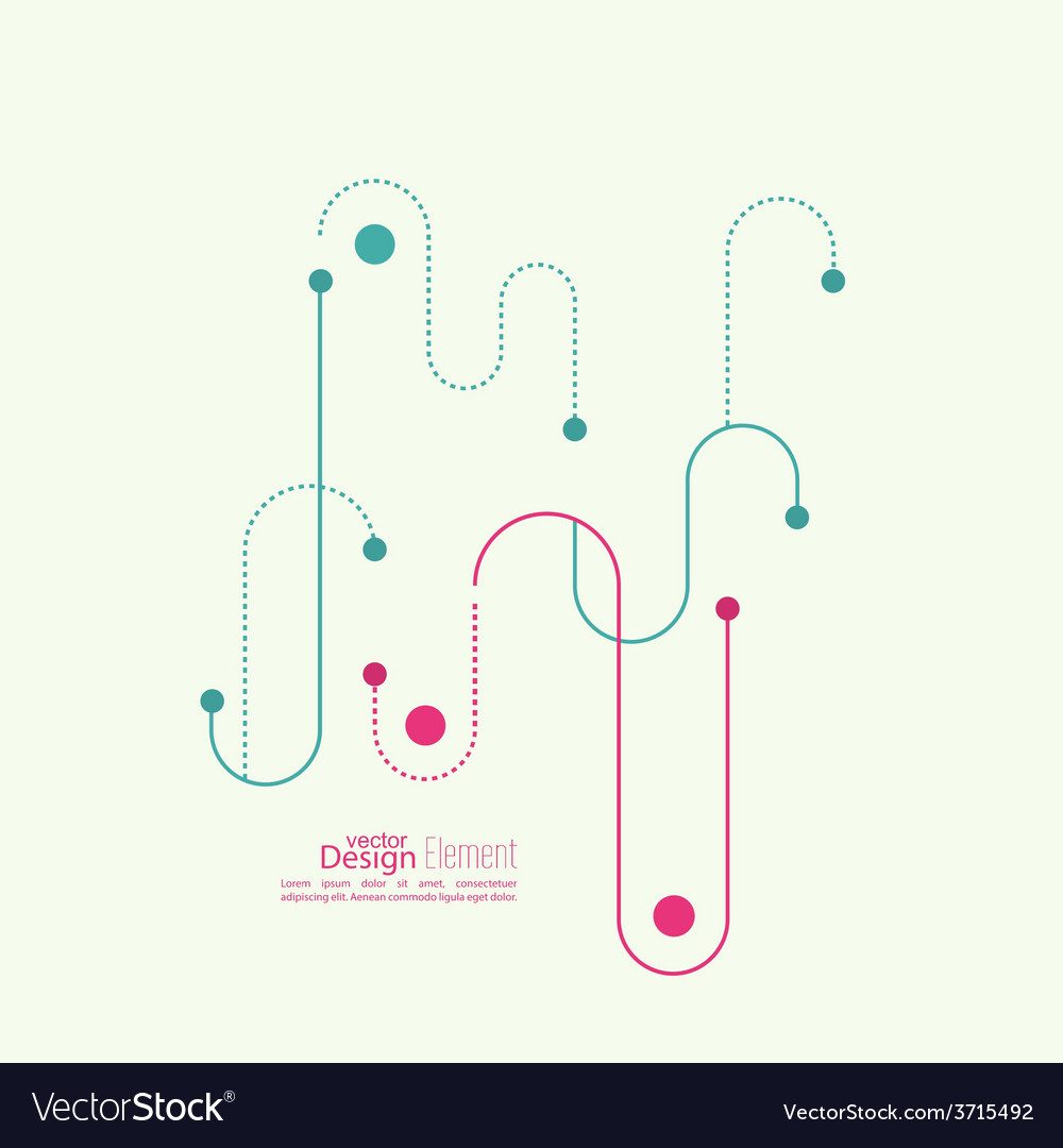 Abstract background with curved lines dotted