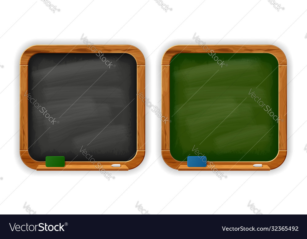 Black and green square school blackboards