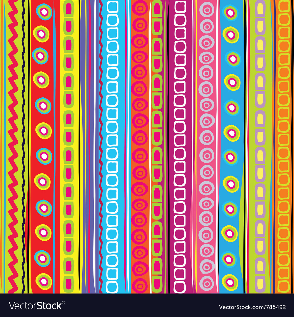 Colorful strip vector image