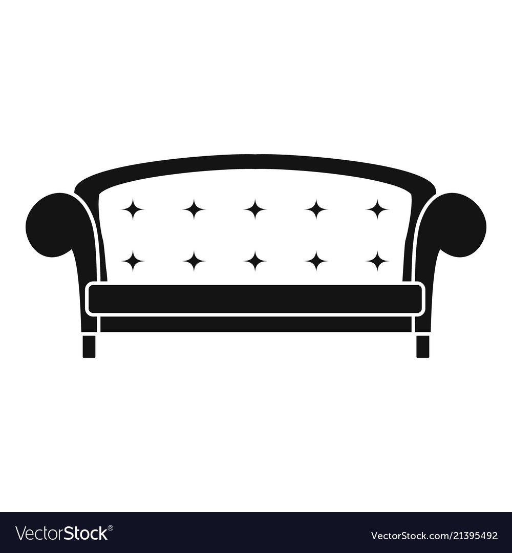 Crown Sofa Icon Simple Style Royalty Free Vector Image