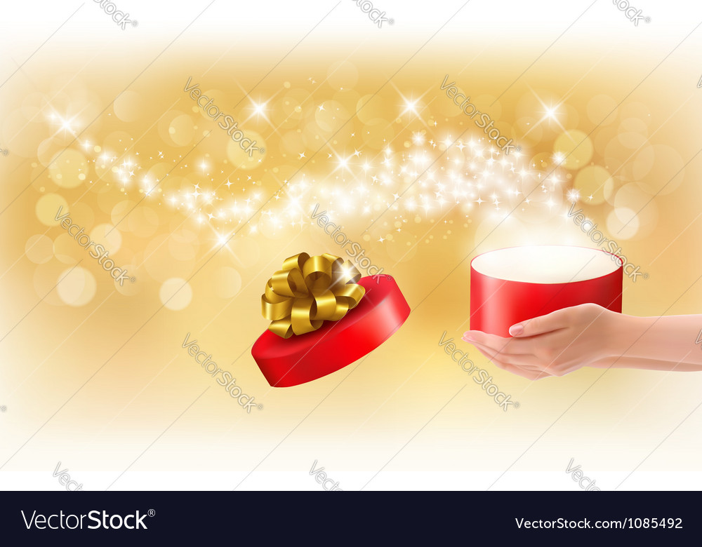 Magic gift box Concept