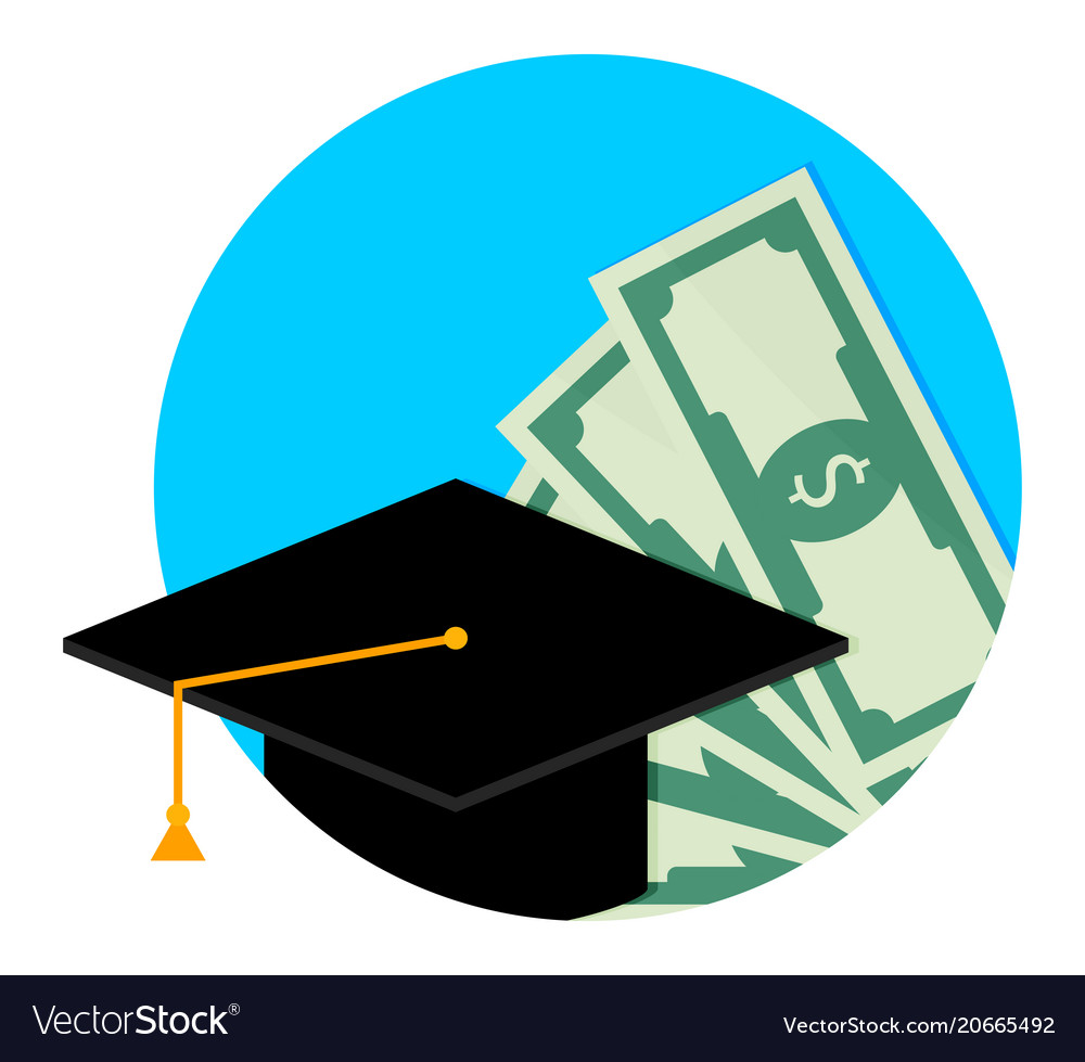 Scholarship or study grant icon flat