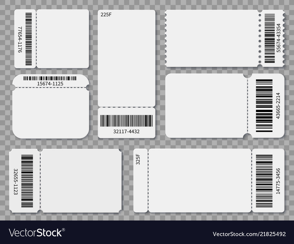 Ticket Templates | Ticket Templates Blank Admit One Festival Concert Vector Image