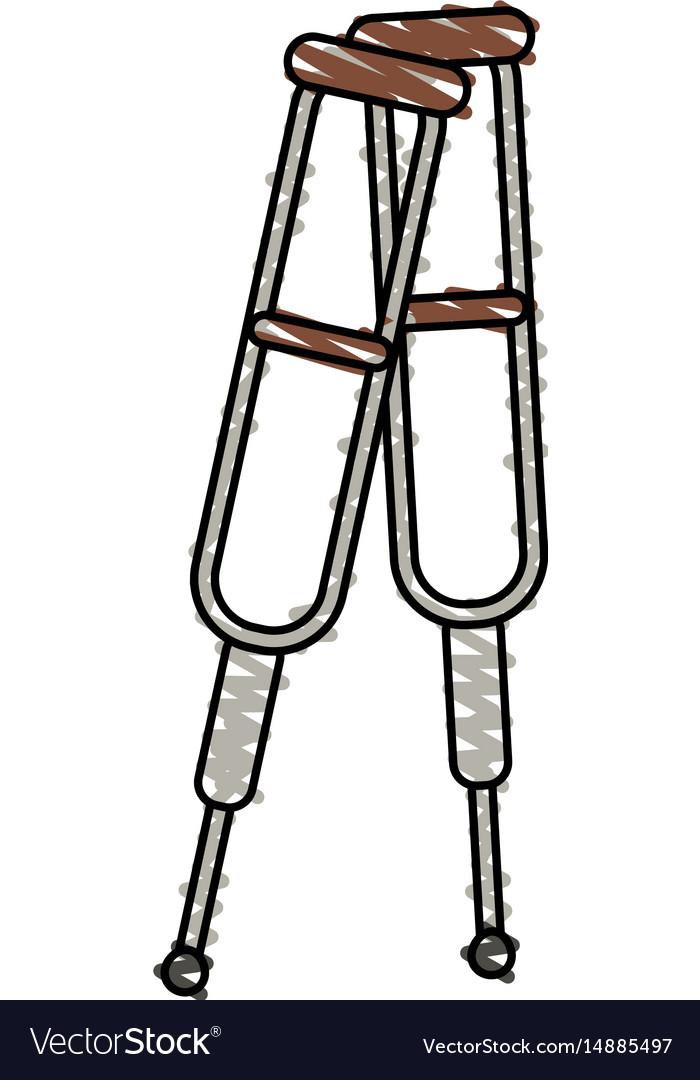 Color crayon stripe cartoon pair of medical