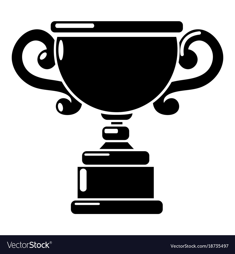 Goblet Icon Simple Black Style Vector Image