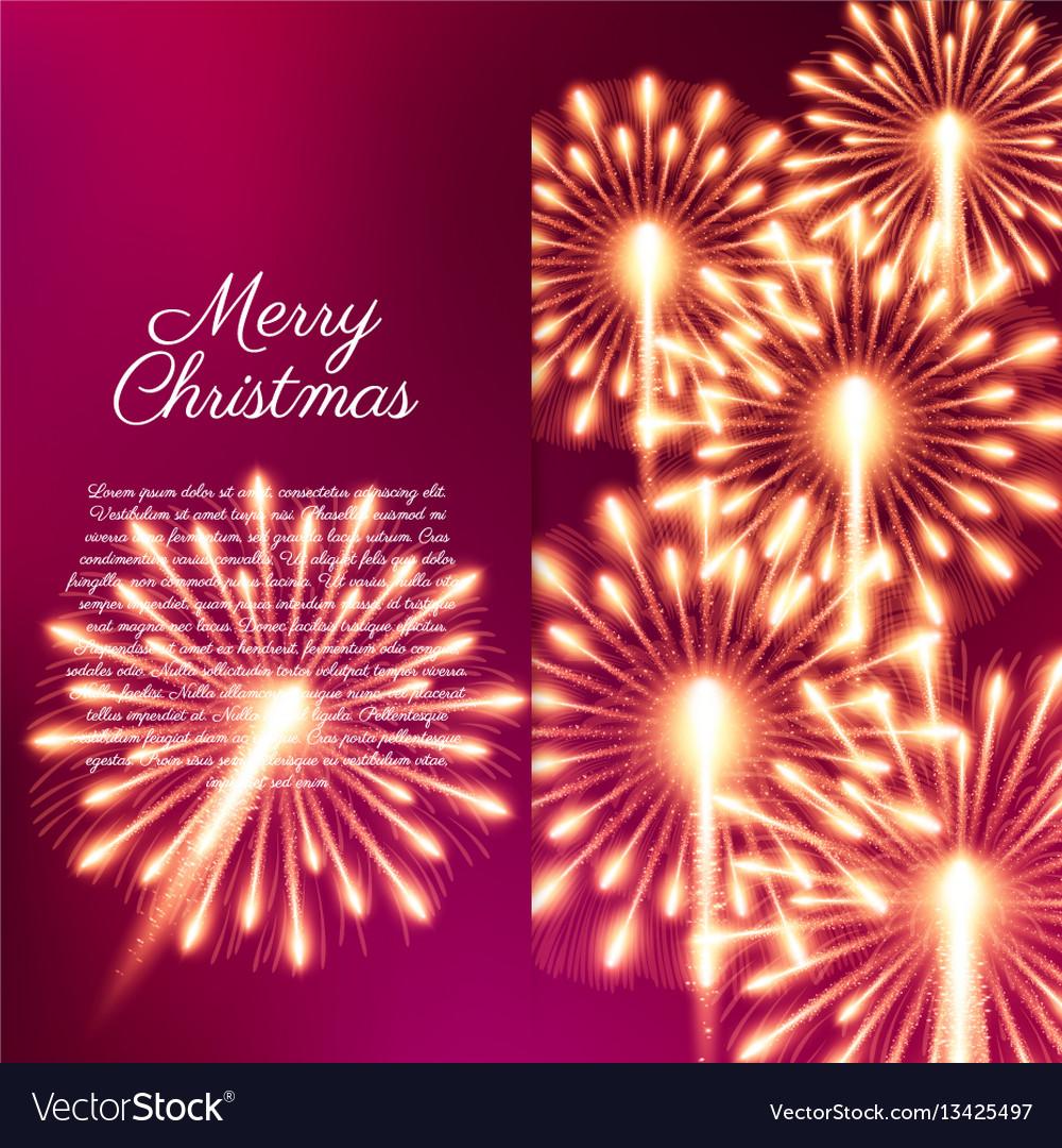 Merry christmas fireworks