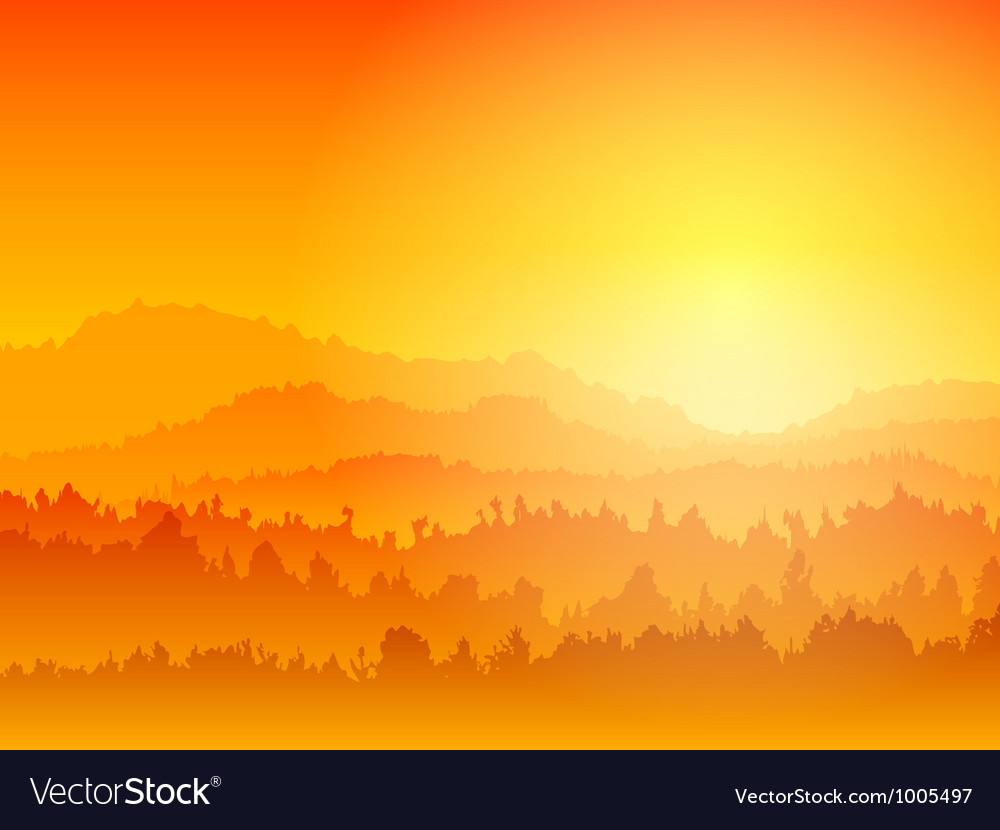 Mountain sunset