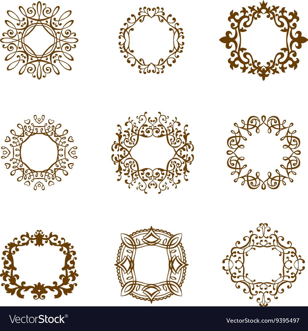Set monogram template