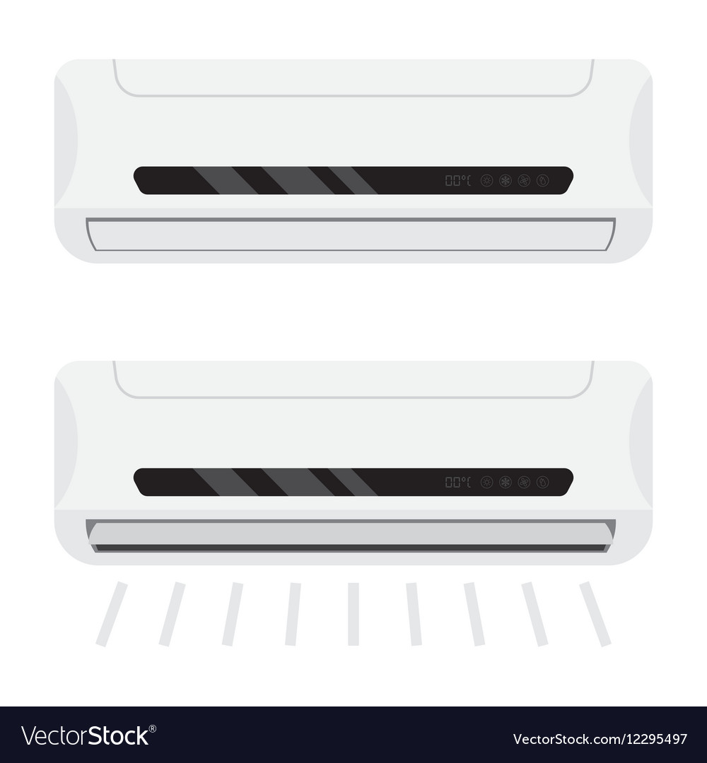 Two air conditioners one is working the other vector image