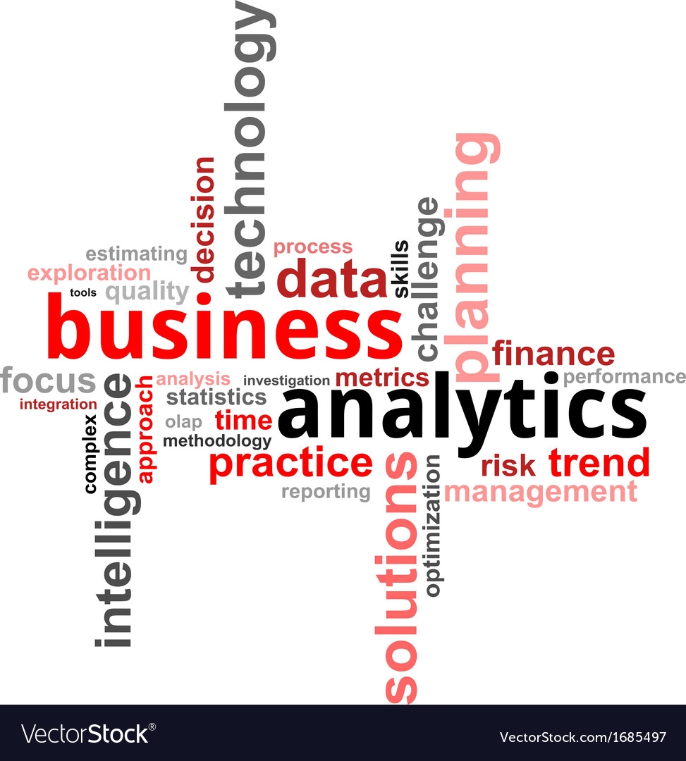 Word cloud business analytics