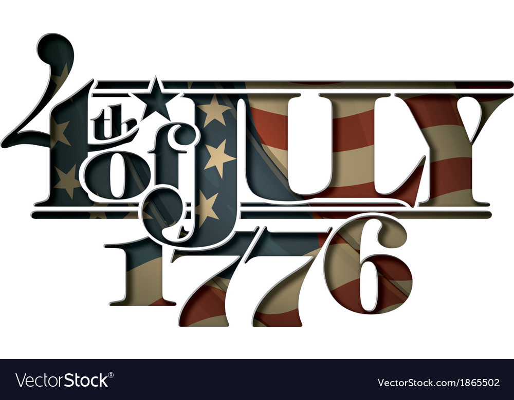4th of July 1776 Cut Out