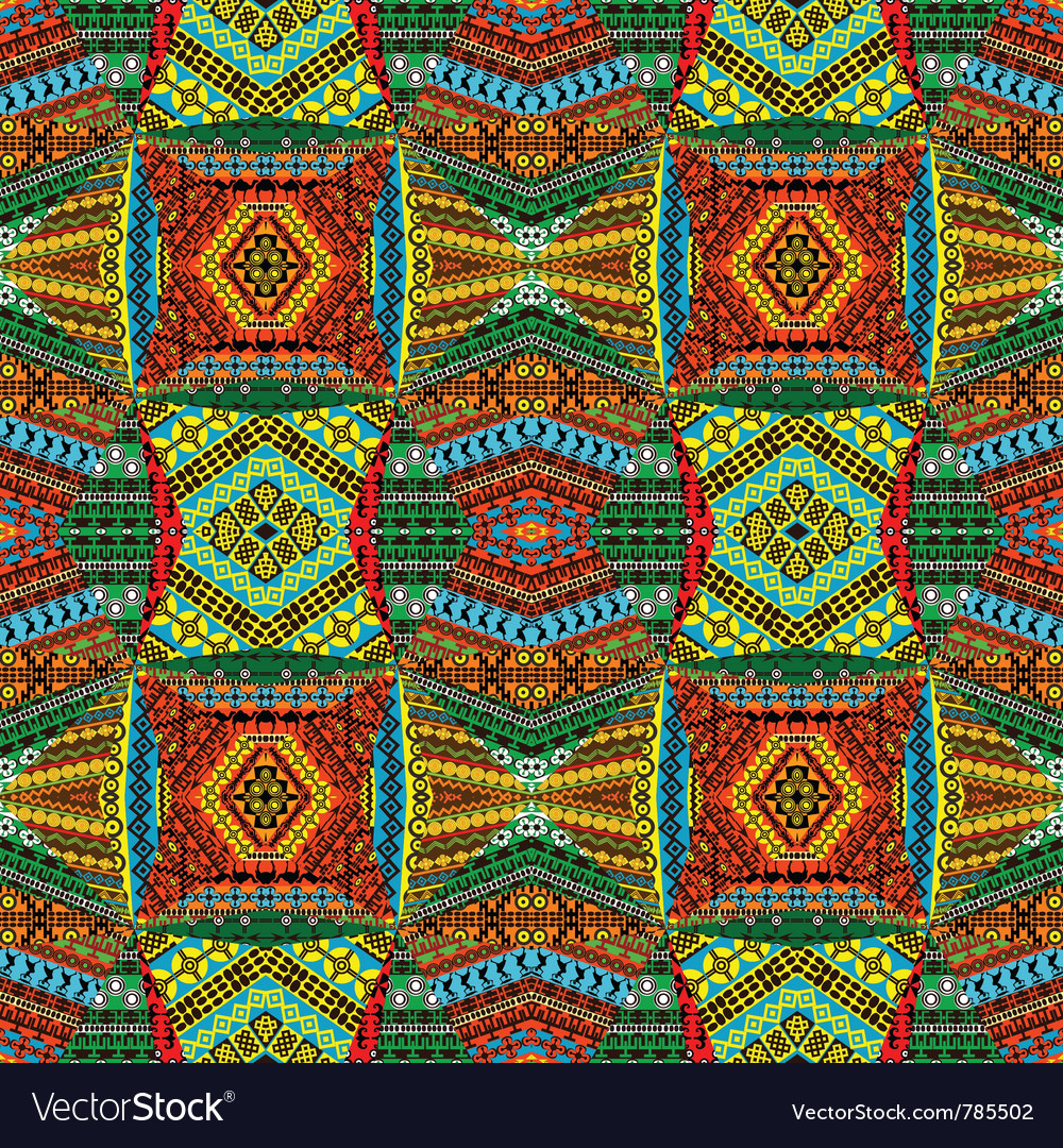 African motifs textile vector image