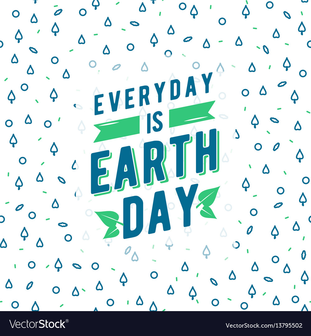 Earth day greeting text