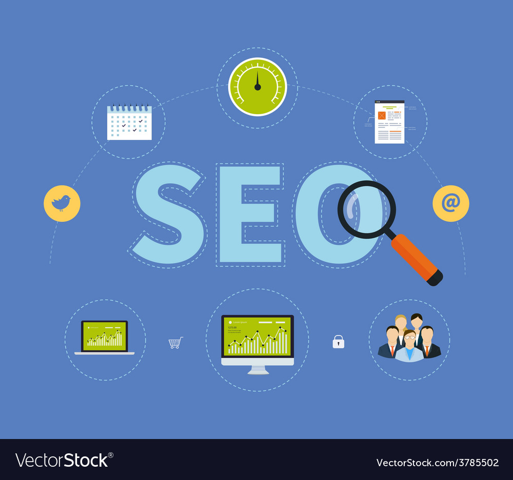 Icons set of website SEO