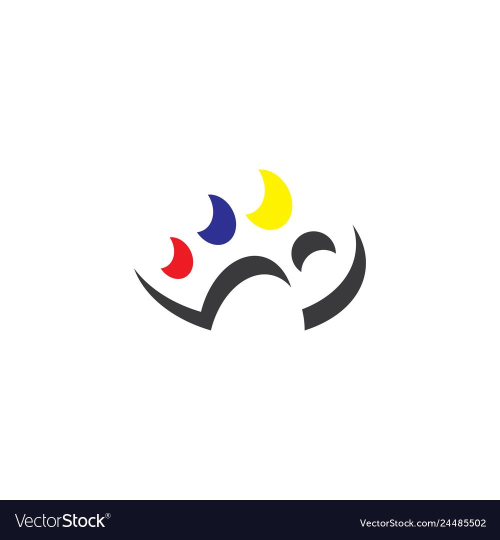 Painting palette painter logo icon element