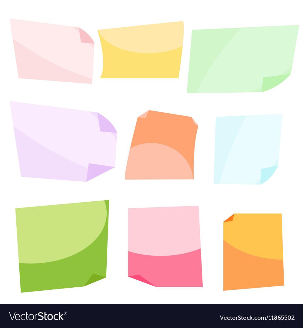 Sticky notes Stationery clip vector image