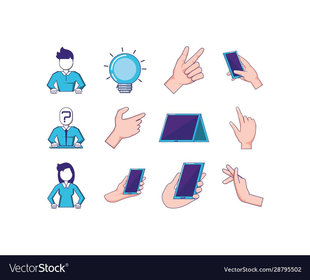 Technology icon set design