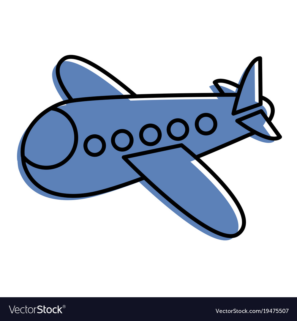 Airplane fly travel toy icon