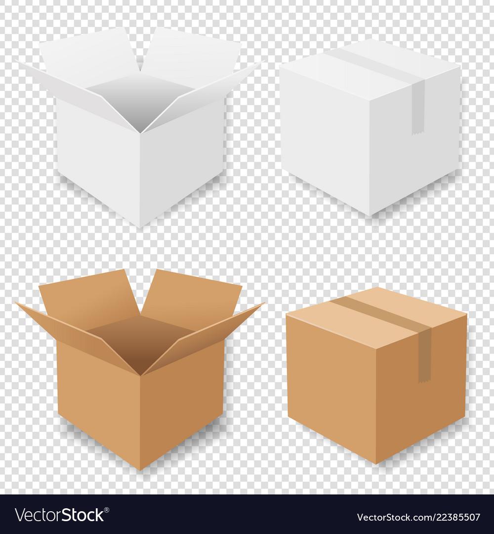 Boxes set isolated