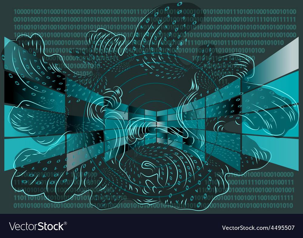 Computer screens vector image