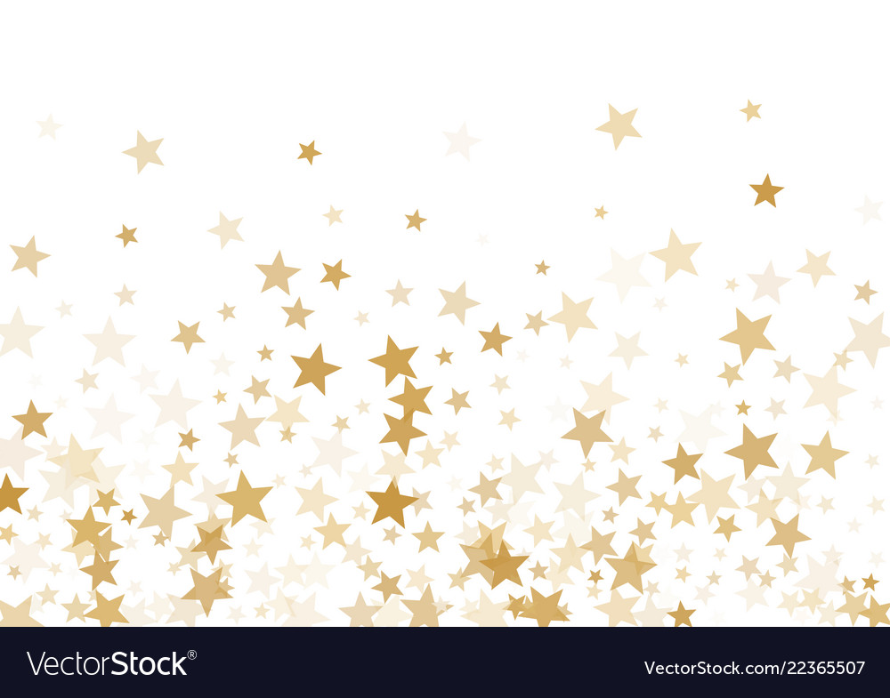 Gold stars confetti falling holidays