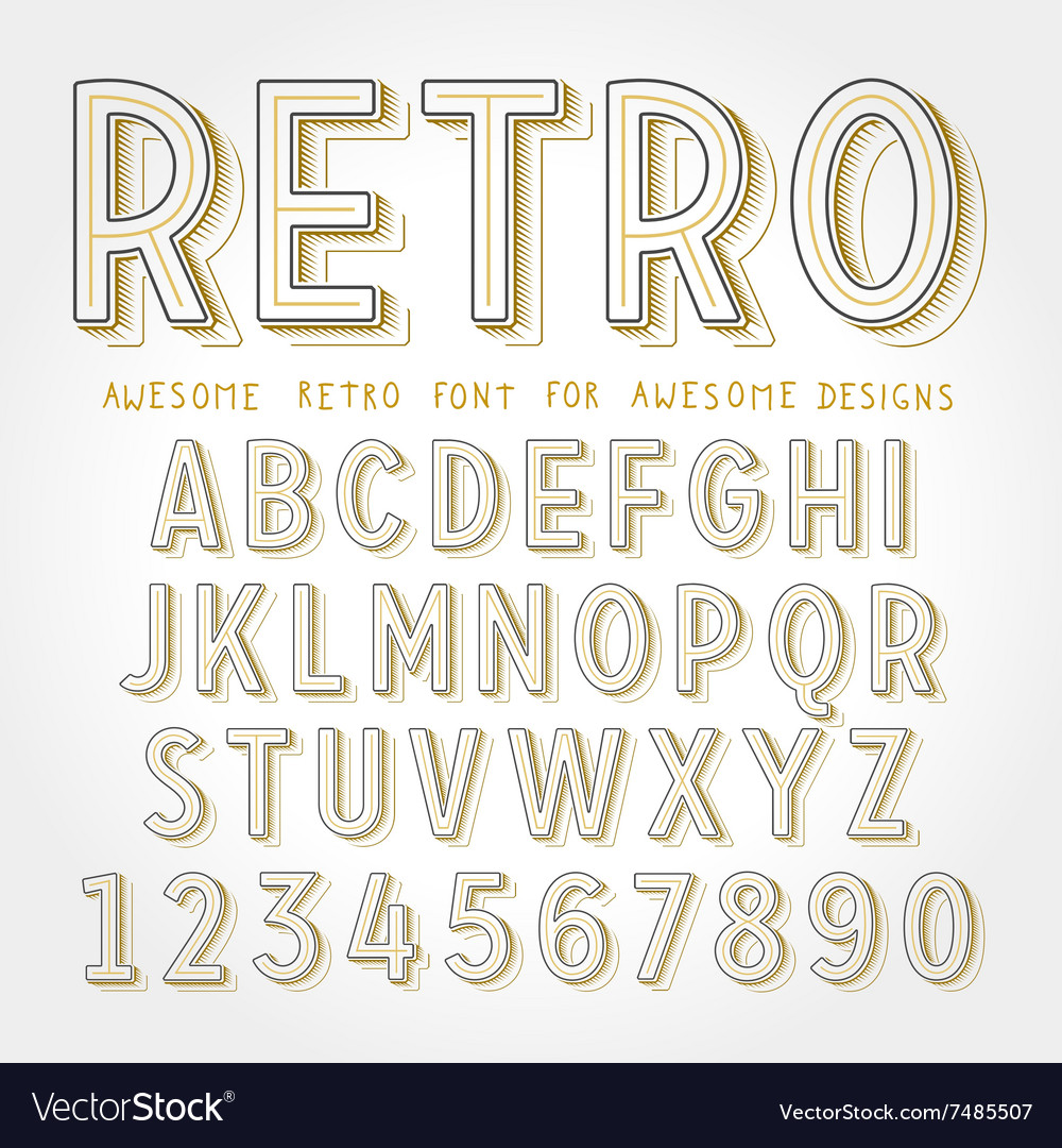 Retro Font with shadow
