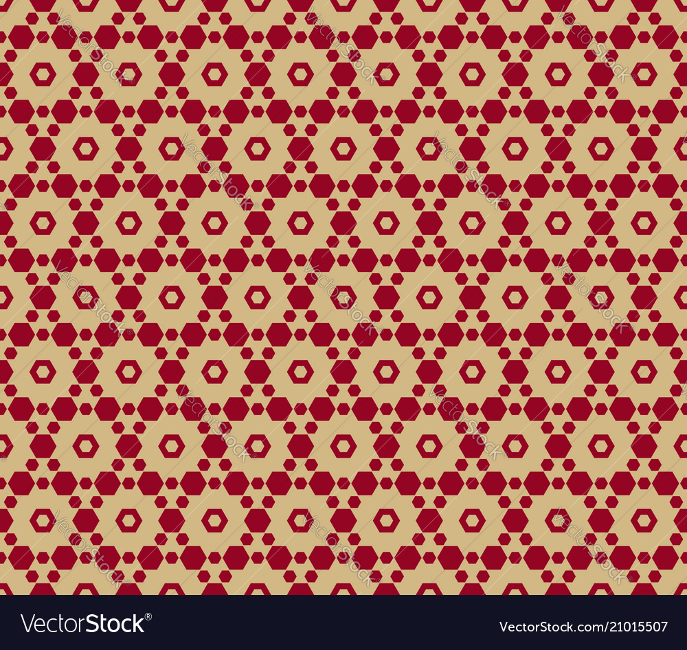Seamless pattern in asian style red and gold vector image
