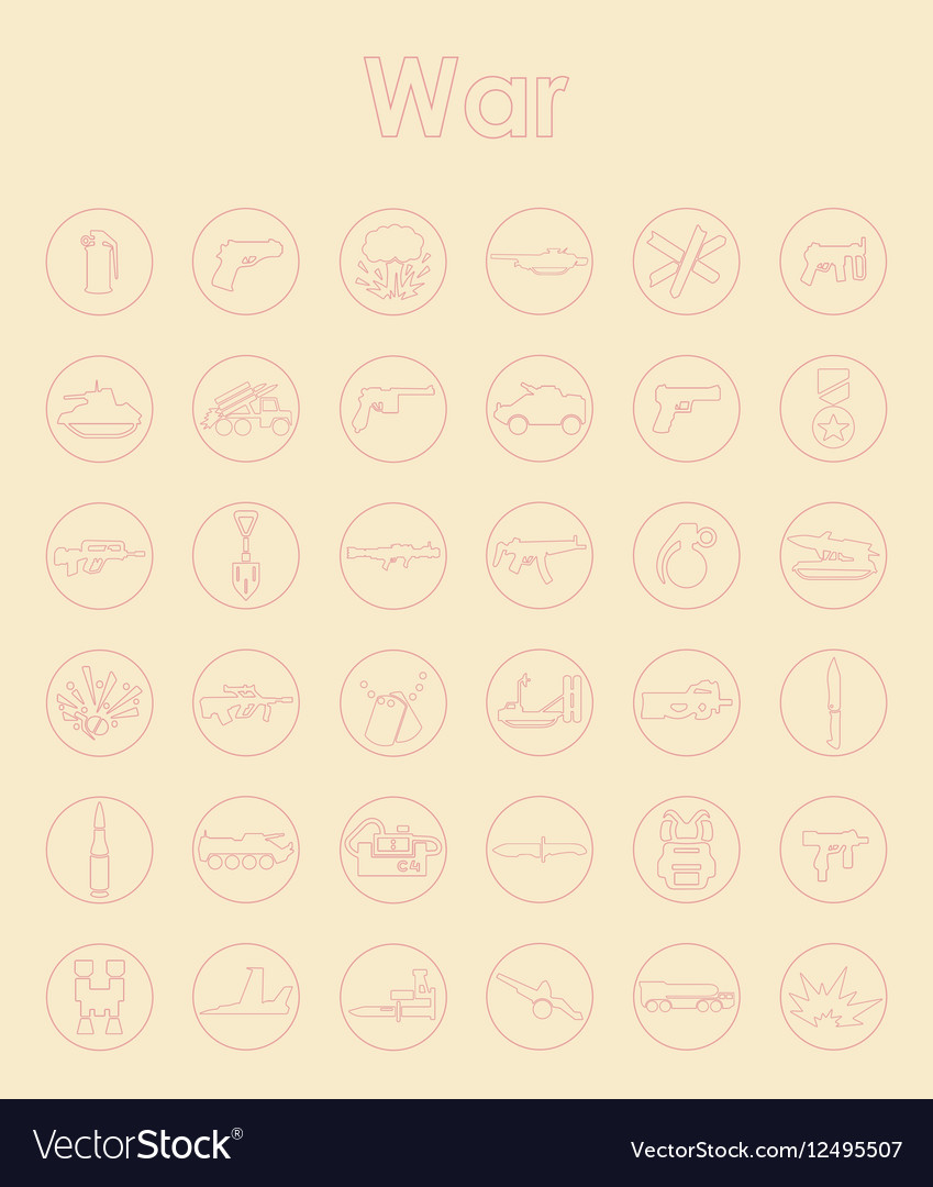 Set of war simple icons