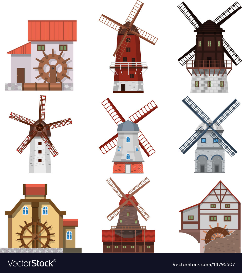 Traditional windmills and water mills
