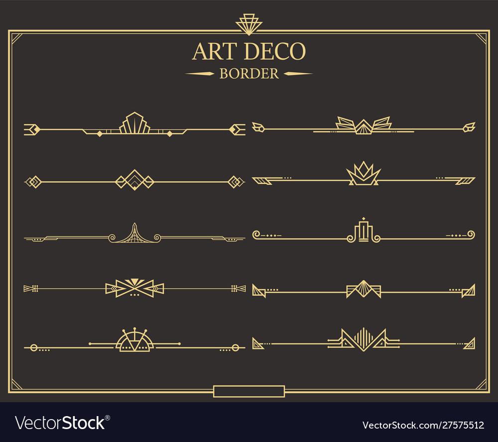 Art deco border 10 set