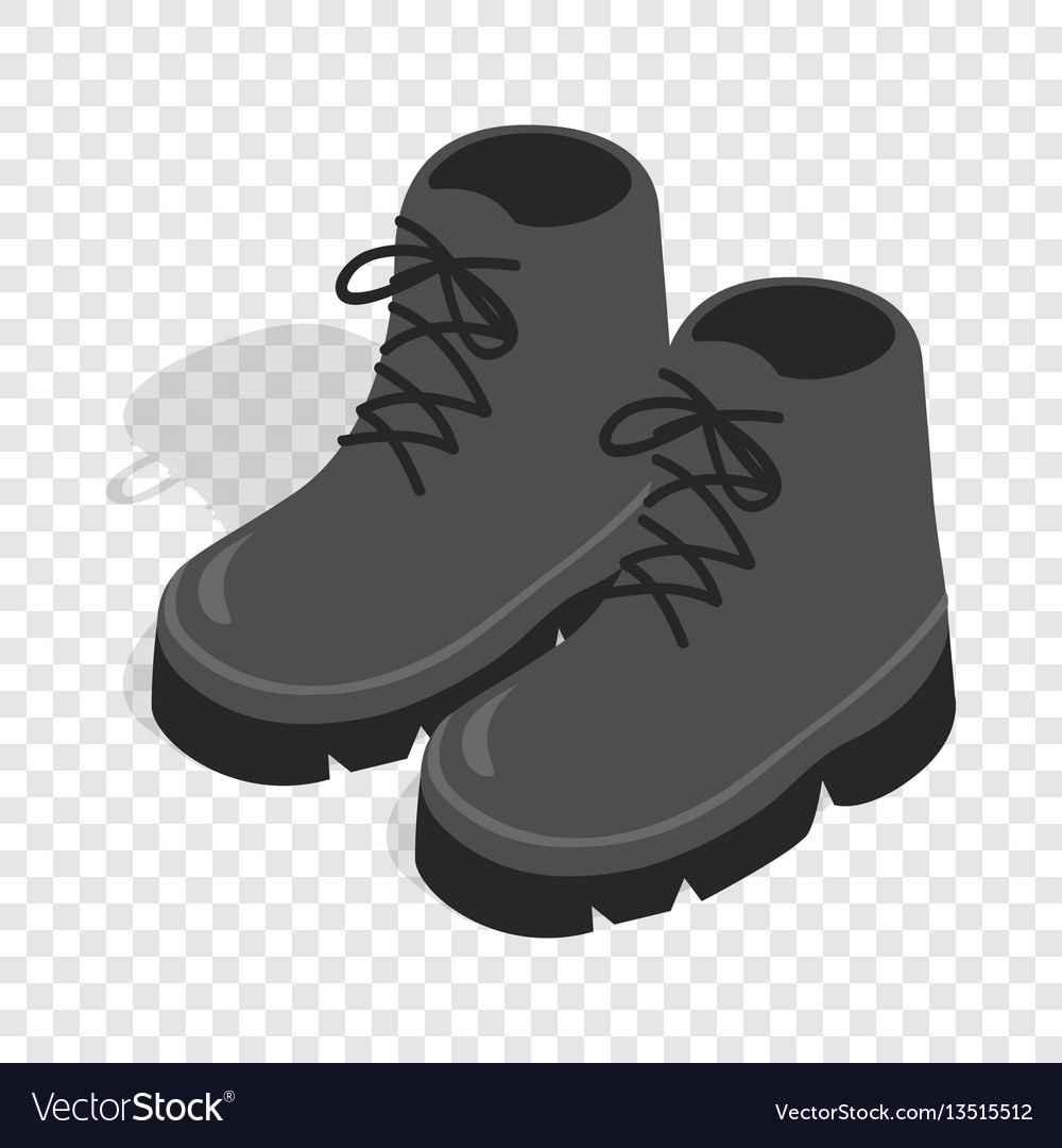 Black boots isometric icon vector image