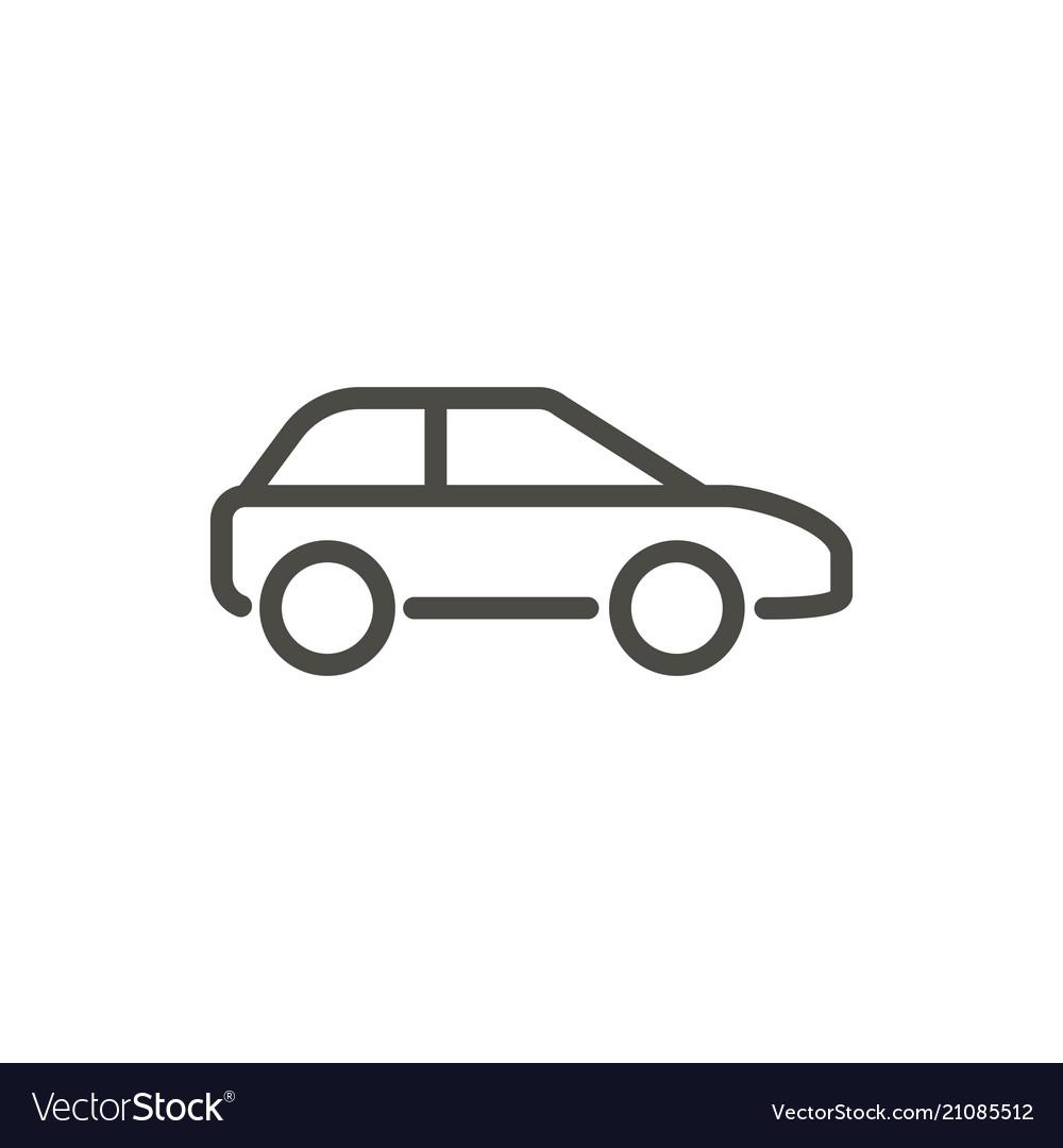 Car Icon Line Drawing Symbol Royalty Free Vector Image