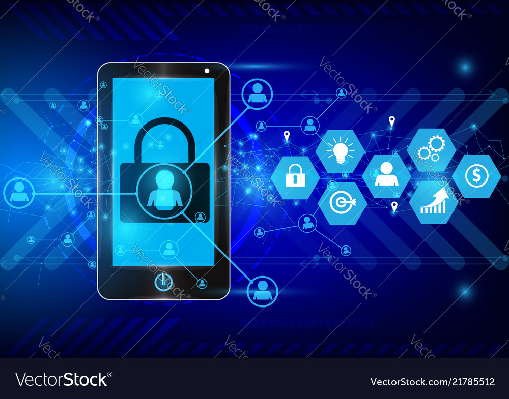 Digital technology and business concept background