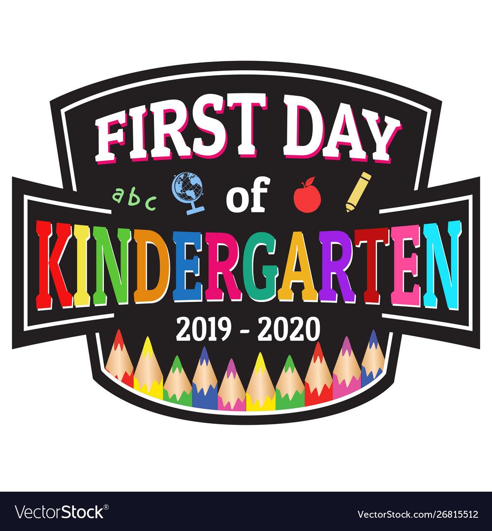 First day kindergarten label or sticker