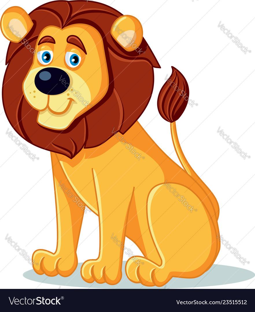 Happy lion cartoon