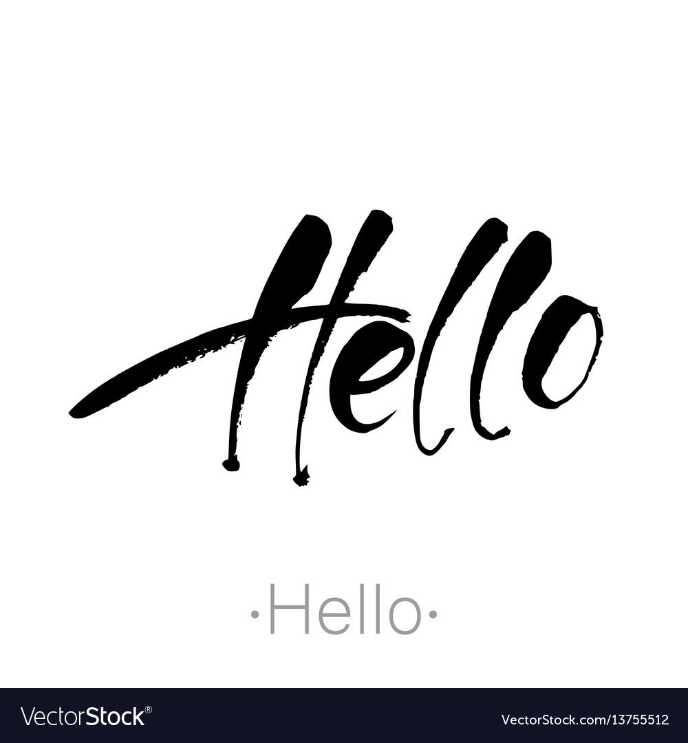 Hello handdraw lettering